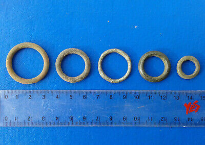 lot of 5 Celtic bronze ring-money, 5th-1st cent BC. №2