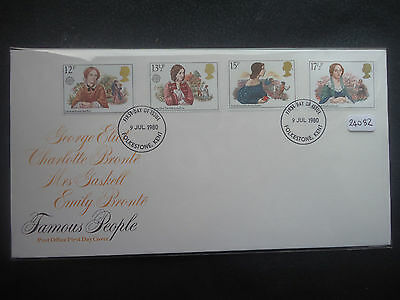 Great Britain 1980 famous women First Day Cover + MNH set