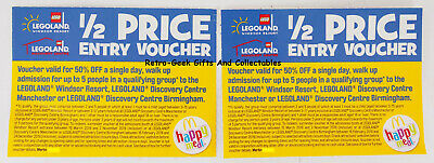 Legoland Discount Ticket Voucher 1/2 price Entry Windsor Manchester Birmingham