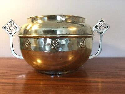 Large, Vintage Brass Arts and Crafts Planter circa Early 1900's