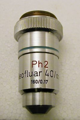 Zeiss Neofluar 40x Phase-Contrast Microscope Objective, 160mm, Exc. Condition!
