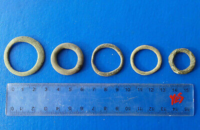 lot of 5 Celtic bronze ring-money, 5th-1st cent BC. №7