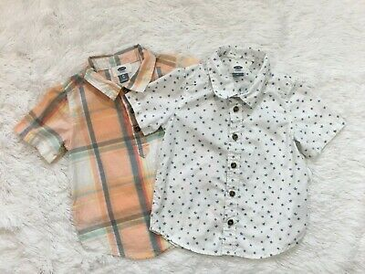Old Navy Boys Size 3T Lot of 2 Shirts Button Down Shirt & Pullover Shirt Spring