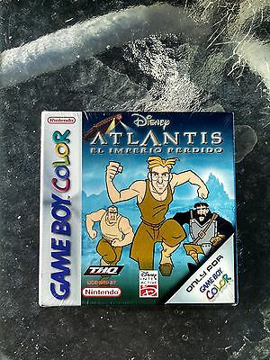 Disney Atlantis the Lost Empire for Nintendo Gameboy Color Spanish version sealD