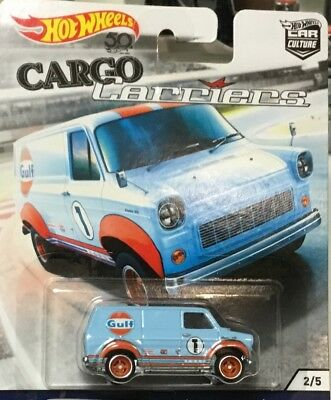 Hot Wheels Car Culture Cargo Carriers Ford Transit (Gulf)- FREE SHIPPING!!!!