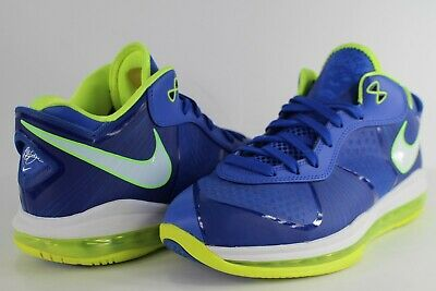super popular 90677 53c86 Nike Lebron 8 V 2 Sprite Treasure Blue White Black Volt Size 9 456849-