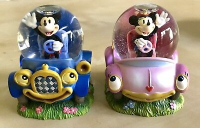 """Mickey Mouse and Minnie Go Driving IRON on patch 2.5/"""" x 3/"""""""