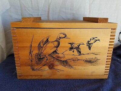 The Classic By Evans Wood Wooden Ammo Box 1994 Old Mill Scene