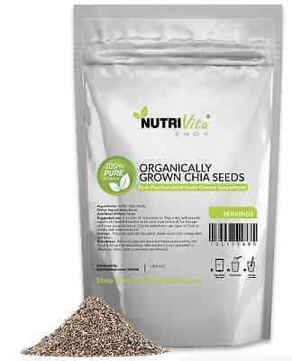 2X 3Lbs (6Lbs) Organic Grown 100% Pure Black Chia Seeds Vegan Gluten-Free Nongmo