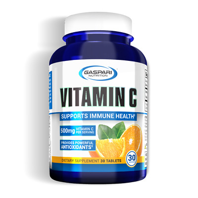 Vitamin C 500mg - 1000mg 30 Tablets 30 Serving Pharmaceutical Grade USA Gaspari