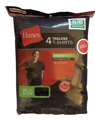 4 pack hanes mens comfortsoft black t shirt choose your size