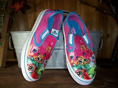 Shopkins Girls Casual Shoes Size 1 Color Pink Kids Cartoon Slippers School New