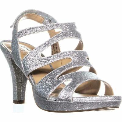 8d7da9b33f8c Naturalizer Women s Pressley Silver Platform Dress Sandals Size 8.5 M