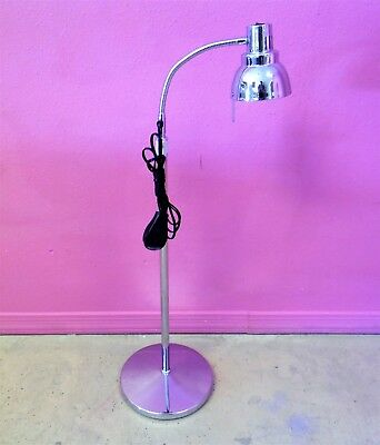 Medical Halogen Chrome Exam Procedure Light Flexible Arm Floor Lamp Stand