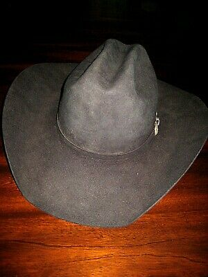 c27a5ff2f01b4 CROSS RESISTOL 4X Brown Fur Felt Vintage Cowboy Hat. Used. -  129.00 ...