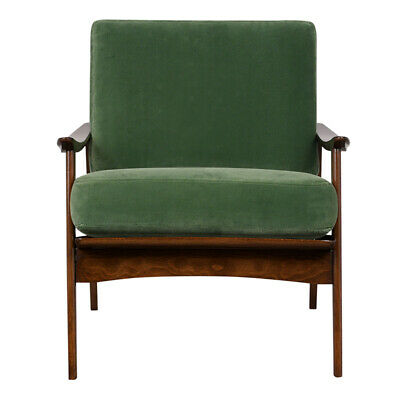 A Mid Century Reupholstered Lounge Arm Chair