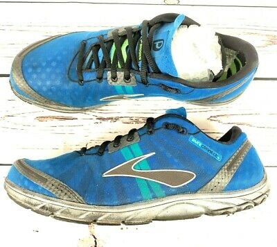 bb7118b34f45e Brooks Pure Connect Men s Lace-Up Blue Athletic Running Shoes Size 10.5 (D)