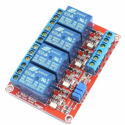 2 Pcs -  5 Vdc@10 Amp 4-Channel High / Low Level Input Relay Boards