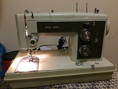 Vintage Sears Kenmore Model 158.17560 Serial 0037956   Sewing  Machine
