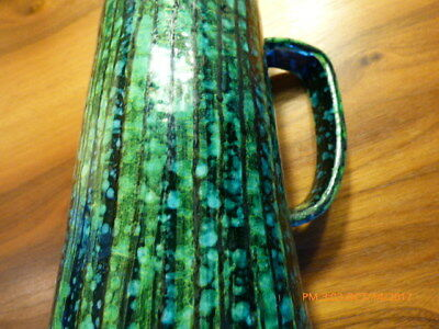 Antique Arts & Crafts Era Unique Studio Pottery Pitcher C.1900