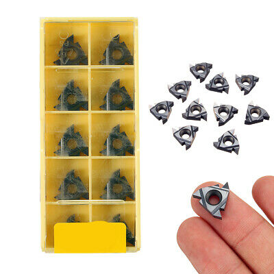 Durable 16ER AG55 Carbide Threading Inserts For Steel Turning Tool 10pcs/Set