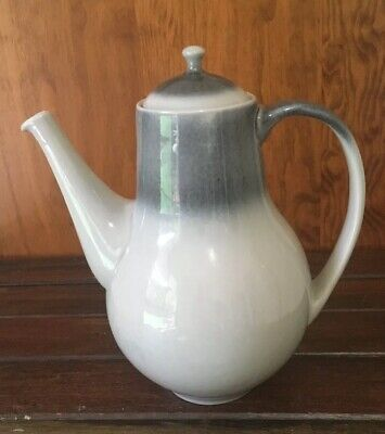 Temuka Pottery Coffeepot New Zealand Stoneware 2 Tone Grey Excellent Condition