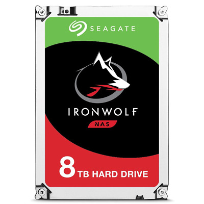 "Seagate 8TB IronWolf 3.5"" SATA3 NAS HDD 256MB Cache 7200RPM, 3yr Wty"