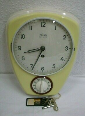 1950s 1960s Kienzle Primus Kitchen Clock with Timer Wall Clock Mechanical Clock