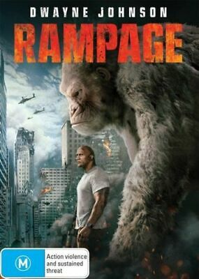 Rampage (DVD, 2018) Dwayne Johnson, Naomie Harris, Malin Akerman, Jake Lacy