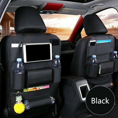 Car Back Seat Protector Leather Organizer Phone Holder Pocket Storage Bag
