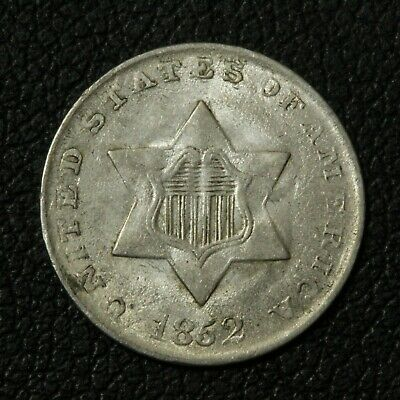 1852 Three Cent Silver Piece - Beautiful!