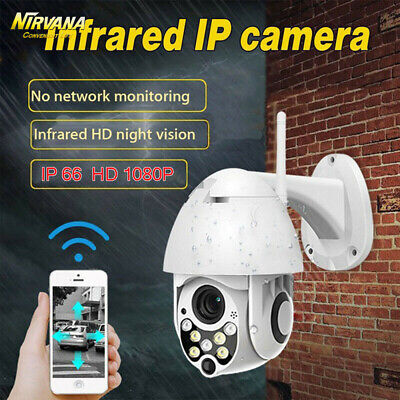 In/ Outdoor Waterproof WiFi PTZ 4xZoom 1080P Security IP IR Camera Night Vision