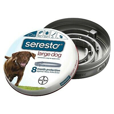 Bayer Seresto Flea and Tick Collar for Dogs Large Gray - SERESTO-LG