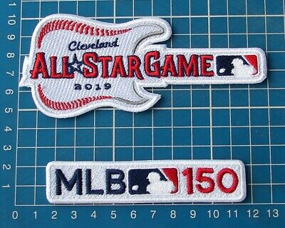 2019 All Star Game Patch Cleveland Guitar Style + 150th MLB Anniversary Baseball