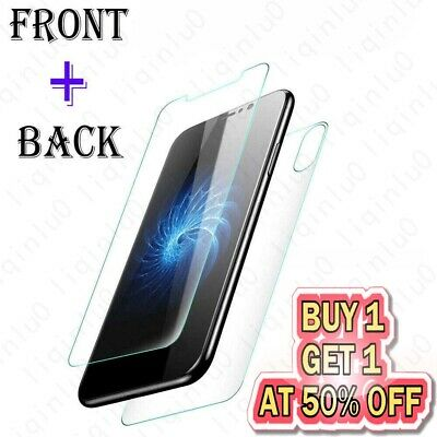 Front & Back Tempered Glass Screen Protector For iPhone 11 Pro XR XS MAX 7 PLUS