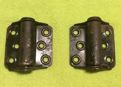Antique ~ Spring Loaded Hinge ~ Metal ~ Pair ~ Screen Door
