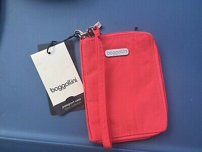Baggallini Passport Id Case Travel Classic Collection Peach New