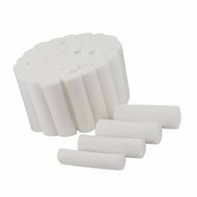 "Cotton Rolls #2 Medium 1.5"" Non-Sterile 100% High Absorbent Cotton Pack of 50"