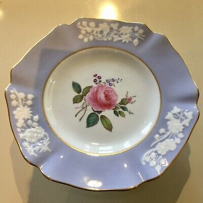 """Spode Maritime Rose Footed Cake Compote Stand 8 3/4"""" Across England Excellent"""