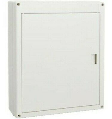 Clipsal SWITCHBOARD ENCLOSURE 2x12 Modules, Surface Mount, Latching Door, White
