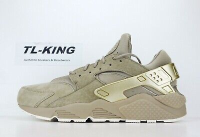 577fbb14927b Nike Air Huarache Run Premium Khaki Metallic Gold Coin Sail 704830 201 BW