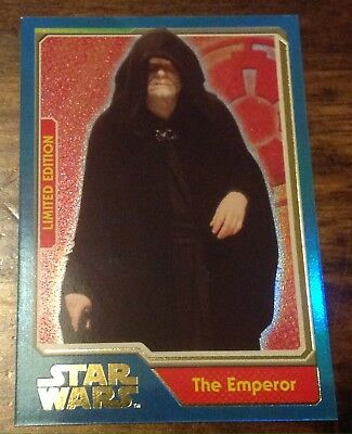 Star Wars Topps Limited Edition Card Journey To Force Awakens The Emperor