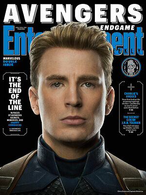 Captain America Avengers End Game - Entertainment Weekly April 2019 New No Label