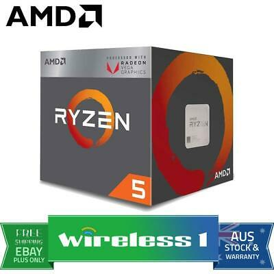 AMD Ryzen 5 2400G 4-Core AM4 3.6GHz CPU Processor with Wraith Stealth Cooler