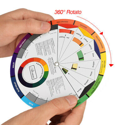 Professional Color Wheel Artist Paint Mixing Guide Tattoo Color Wheel UK 2019