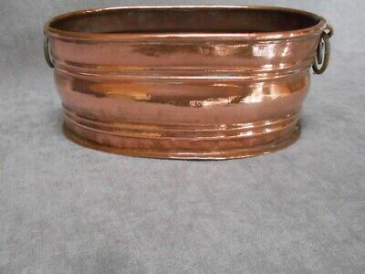French Vintage COPPER Embossed JARDINIERE ,  Planter