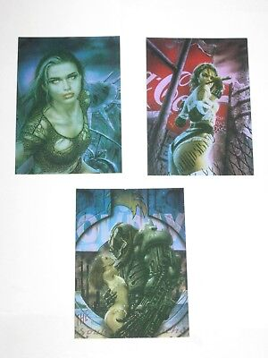 PROHIBITED Comic Images//2000 LUIS ROYO Complete METAL TEX Chase Card Set