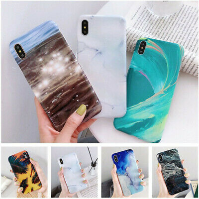 Shockproof Marble Pattern Soft IMD Cover Case For iPhone X XS XR XS Max 8 7 Plus