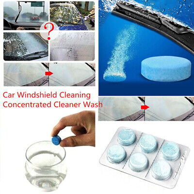 6 Pcs Auto/Car Windshield Glass Wash Cleaning Concentrated Effervescent Tablets