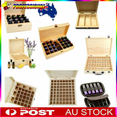 AU 3-70 Slot Aromatherapy Essential Oil Storage Box Wooden Case Container Holder